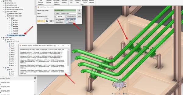 PDMS-E3D (V-6-5-0) Rohrleitungen und Bauteile kopieren