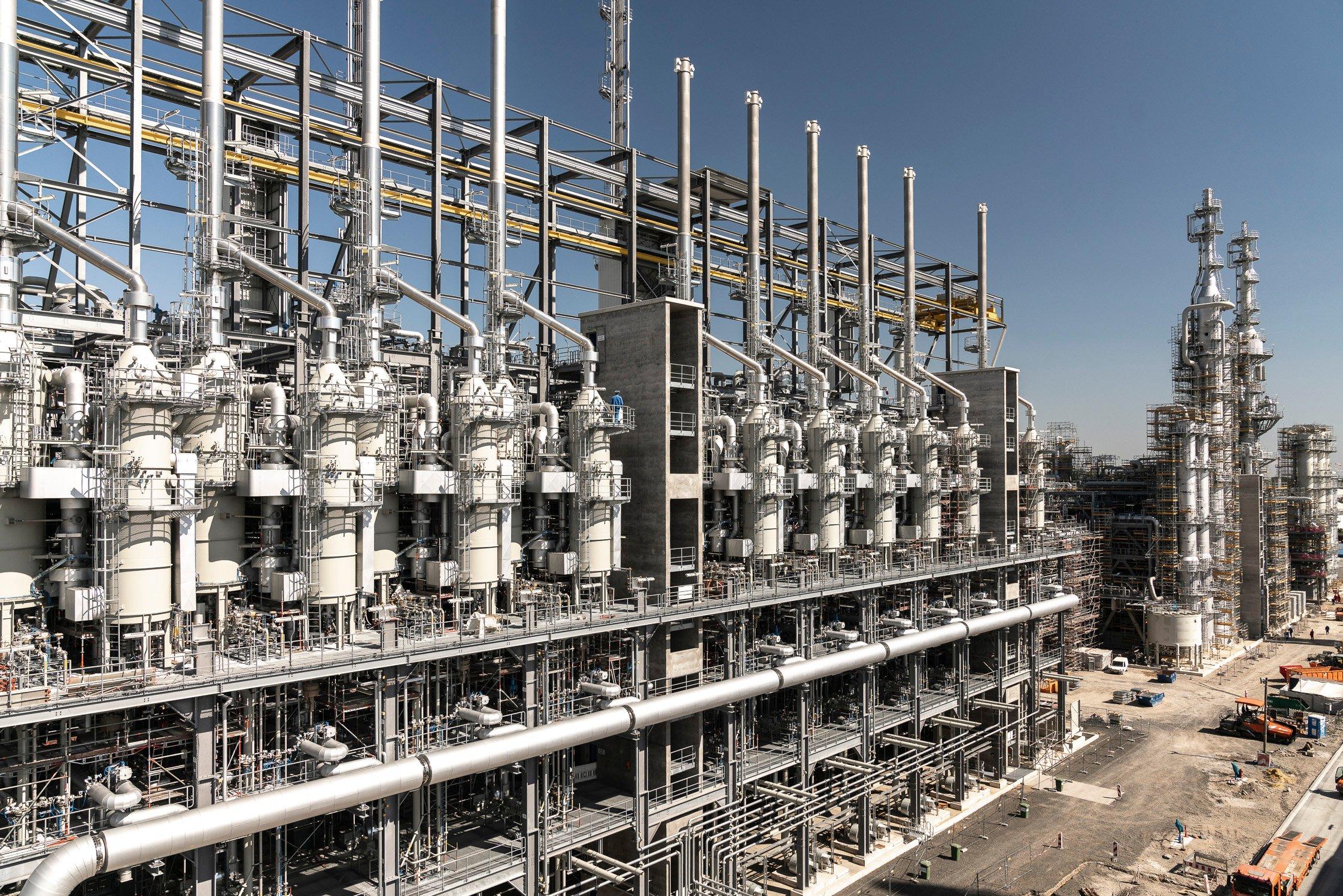 Acetylen-Anlage am BASF Standort Ludwigshafen