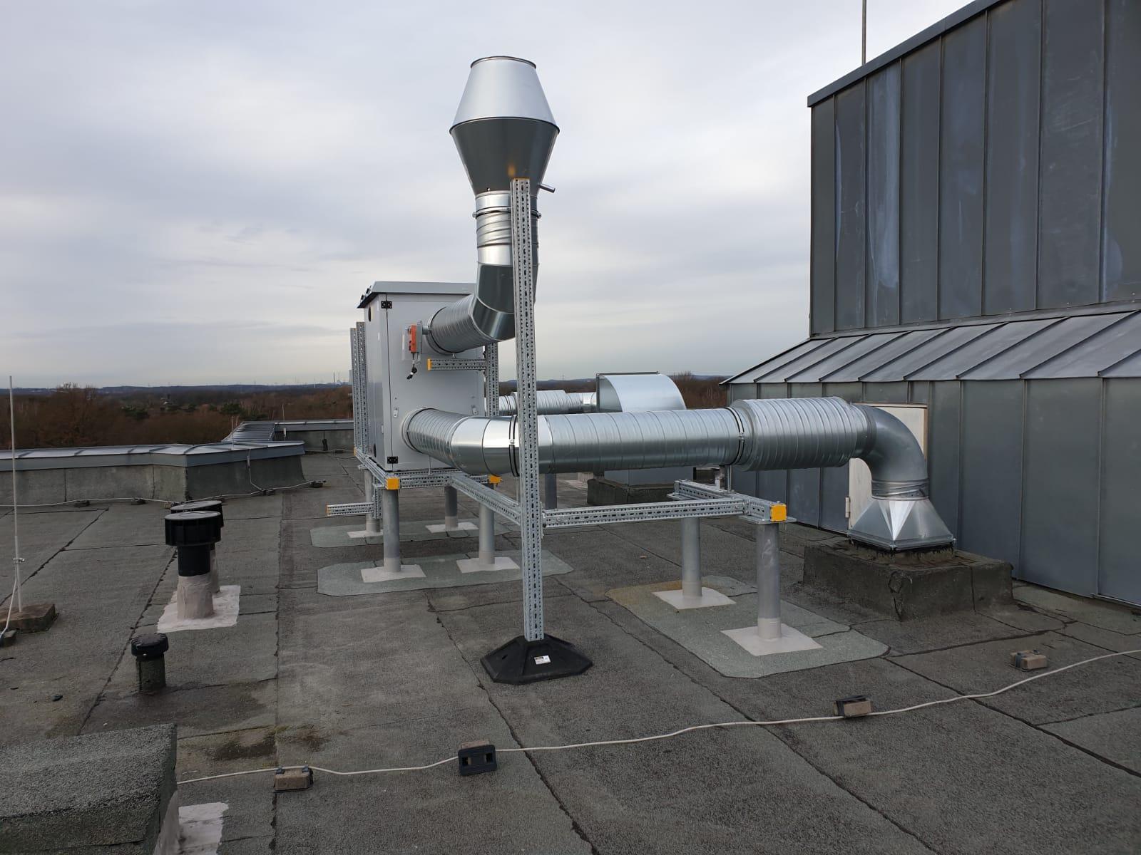 Praxisbeispiel einer RLT-Anlage auf einem Flachdach